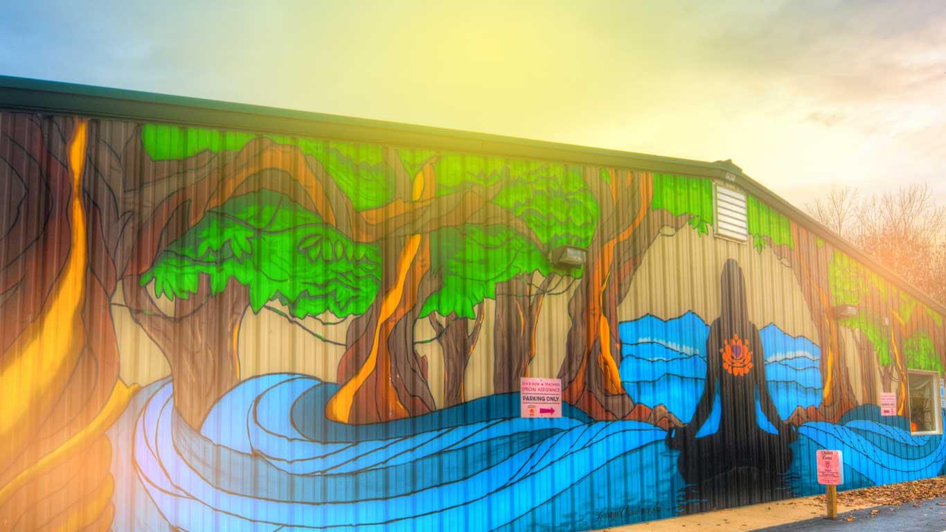 acy outdoor mural banner